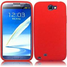 INSTEN For Samsung Galaxy S Note 2 N7100(AT & T) Funny Silicone Skin Cover - Red