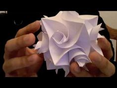 Origami Cuboctahedron with Curler Units - YouTube