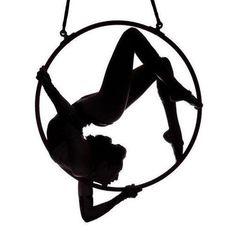 aerial hoop lyra silhouet just beautiful!