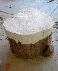 Half-painted stump