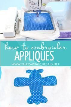 How to Embroider Appliques using a Brother machine