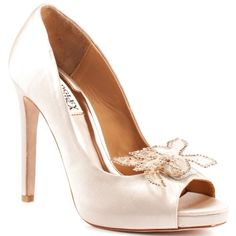 Badgley Mischka Women's Reta Open-Toe Pump,Cream,10 M US * Check this awesome product by going to the link at the image.