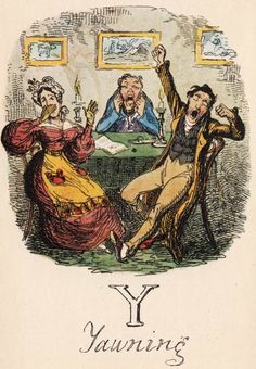 """Y: Yawning"" from ""A Comic Alphabet"" by George Cruikshank (1836)"