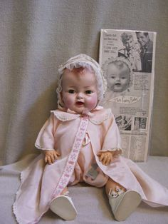 """RARE-I LOVE LUCY DOLL-16"""" TALL JTD. ALL ORIGINAL RUBBER BODY 1952 ONLY"""