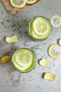 Boozy Green Lemonades