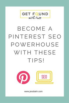 Pinterest has major SEO power because it is a search engine, learn how to master Pinterest SEO so your pins, boards and blog posts gets found on Google and on Pinterest.