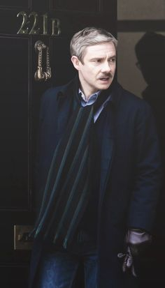 On the set of Sherlock season 3. IS THAT A MOUSTACHE?!