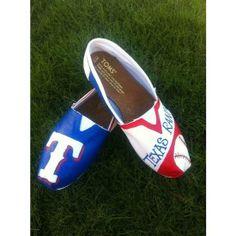 #my dream wardrobe <3 / Texas Rangers TOMS!! found on Polyvore
