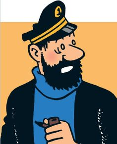 """""""Billions of blue blistering barnacles!"""" // Captain Haddock is his spirit animal. Haddock Tintin, Tin Tin Cartoon, Captain Haddock, Herge Tintin, Bd Art, Drawn Art, Fred, Ligne Claire, Minor Character"""