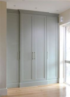Wall wardrobes as a space-saving alternative main bedroom wardrobe wall storage Wardrobe Wall, Wardrobe Storage, Bedroom Wardrobe, Wardrobe Design, Built In Wardrobe, Armoire Wardrobe, Bedroom Storage, Bedroom Closet Doors, Bedroom Windows