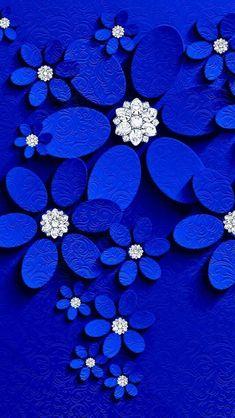 Royal Blue Wallpaper, Flower Iphone Wallpaper, Heart Wallpaper, Apple Wallpaper, Butterfly Wallpaper, Blue Wallpapers, Love Wallpaper, Cellphone Wallpaper, Pretty Wallpapers