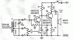 "This two transistor AM radio circuit is also called ""mini-radio"". It uses only 2 transistors and few passive components which makes is ve..."