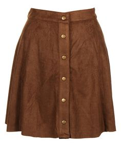 Another great find on #zulily! Toffee Button-Accent A-Line Skirt - Plus #zulilyfinds