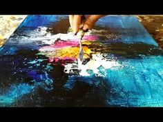 Abstract painting / How to paint abstract painting and texture the canvas with gesso / Demo - YouTube