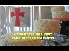 Cómo Hacer Una Cruz Para Pastel De Bautizo Facil En Pasta De Goma - Madelin's Cakes - YouTube