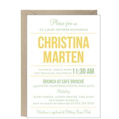 Playbill Baby Shower Invitation