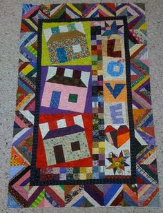 bonnie hunter string quilt patterns | the love shack wall hanging is not a pattern available in any of her ...
