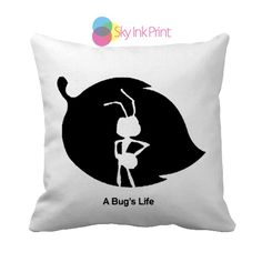 a bug's life Throw Pillows, Pillow Covers, Pillow Cases, Decorative Throw Pillows, Decorative Pillows ( 1 or 2 Side Print With Size 16, 18, 20, 26, 30, 36 inch )