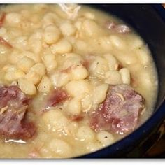 Crock Pot Northern Beans and Ham Recipe . I know this isn't soup butclose enough.
