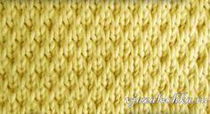 Текстурный узор спицами из снятыми петлями, видео