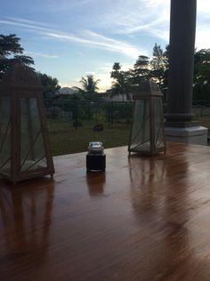 Dining outside in seychelles