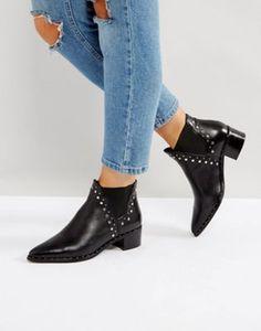 d8661d55f69 Steve Madden Doruss Leather Studded Boots
