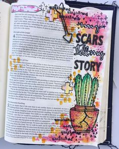 Bible Journaling by @kristenwolbach | 2 Corinthians 4:7-9