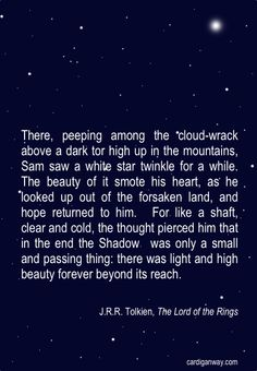 These words are beautiful. // They are indeed. I'd totally forgotten this part in the book, until I read it again, lately (I thought I'd made up the star part, for a fanfiction of my own... -SG).