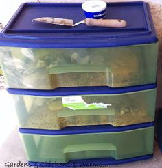 Meal Worms Bins   How to farm meal worms for your chickens                                                                                                                                                      More