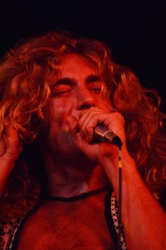 Robert Plant performs with Led Zeppelin live at Hiroshima Prefectural Sports Center Hiroshima September 27 1971.  Photo © Shinko Music.