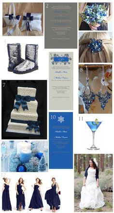 Blue and Gray Winter Wedding - Ideas and Inspiration - Urbanity Studios Blog