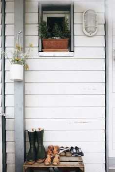 A Lovely Journey, House Tours, Modern, Outdoor Structures, Outdoor Decor, Home Decor, Bright Nursery, Small Dresser, Wood Facade