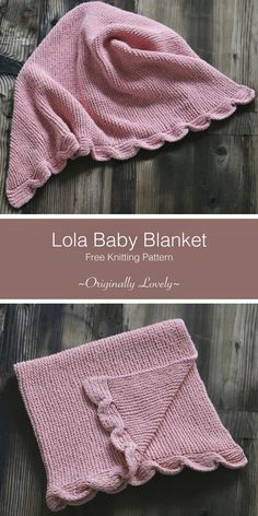Lola Baby Blanket Knitting Pattern - Knitting and Crochet - Baby Knits Easy Knit Baby Blanket, Free Baby Blanket Patterns, Crochet Baby Blanket Beginner, Knitted Baby Blankets, Baby Patterns, Knitting Patterns Free, Free Knitting, Weighted Blanket, Free Pattern