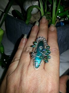*Absinth Fary*  my first wire work ring <3