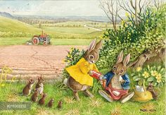 'The Ploughman's Lunch' - with rabbits and mice