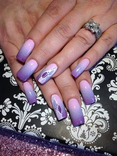 Purple Ombre by Ettennae from Nail Art Gallery