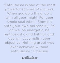 Emerson on enthusiasm
