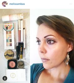 @melissambas Wearing MC highlighter in CRYSTAL COVE