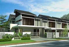 Found 0 new property launches in Malaysia. Find your ideal property be it residential or commercial at iProperty Malaysia today Duplex House Design, Small House Design, Apartment Design, Modern House Design, Cluster House, Narrow House Plans, Facade House, Terraces, Little Houses