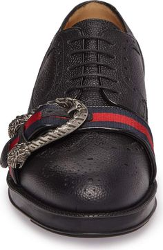 Product Image 4 Tiger Head, Leather Brogues, Derby, Hiking Boots, Nordstrom, Gucci, Detail, Men, Image