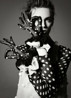 Myf Shepherd styled by Vittoria Cerciello, shot by Jean-François Campos for Flair magazine's November 2011 issue