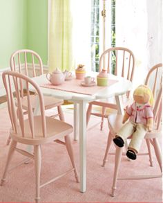 Painting the table we already have is now a must for tea parties!
