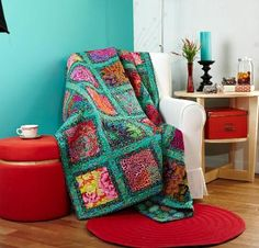 Rowan Kaffe Fassett Jewel Frames Quilt Kit - Quilting Kit includes Fabric & Pattern!