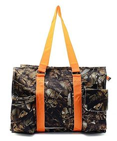 Camouflage Canvas Multipurpose Utility Tote Bag Shopping Travel Orange ** Find out more about the great product at the image link.