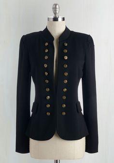 I Glam Hardly Believe It Blazer in Black. Need a pinch? #black #modcloth
