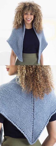 Simple Shawl Free Knitting Pattern