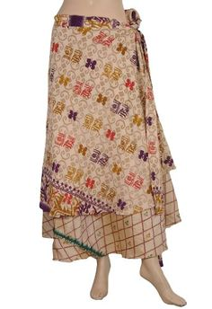 Indian Recycled Printed Sari Two Layer Sarong