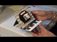 Stampin Up Piano Easel Card - YouTube
