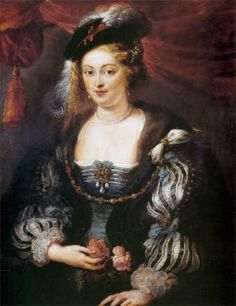 Helene Fourment - Peter Paul Rubens.  1620s.  Oil on panel.  96 x 76 cm.  Mauritshuis, The Hague, Netherlands.