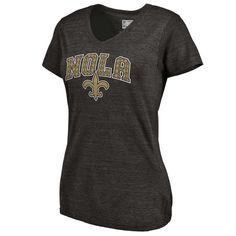 c97b525c0 Milwaukee Brewers Fanatics Apparel Women s Gold Collection V Neck Tri Blend  T-Shirt Black